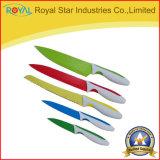 5 оптовых ножей кухни нержавеющей стали частей установленных с рукой