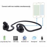 Écouteur sans fil stéréo de Bluetooth de sports portatifs avec le microphone