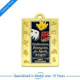 Kundenspezifische Andenken-Preis-Medaille des Metallantike-Silber-3D