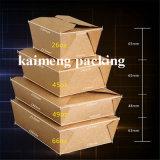 Rectángulo de empaquetado disponible blanco ambiental del papel de Kraft con la impresión (rectángulo de empaquetado de papel)
