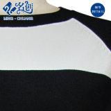 La chemise ronde noire et blanche de circuit de collier desserrent le chemisier