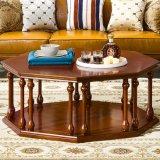 거실 가구를 위한 고전적인 가죽 소파 그리고 테이블