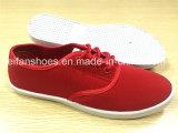 Ботинки ботинок холстины впрыски женщин сплошных цветов вскользь плоские