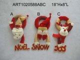 Bride de fixation de poignée de porte de bonhomme de neige de Santa de Noël, décoration d'Asst-Noël 3