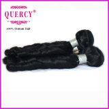 Cabelo reto humano da loja por atacado não processada do Weave do cabelo ondulado de Remy