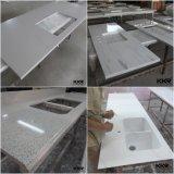 Белый проектированный Countertop кухни ванной комнаты камня кварца