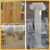 Carved Polished Yellow Marble Granite Stone Roman Solid Column
