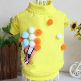 T-shirt occasionnel de chiot de crabot de jupe de ballon d'animal familier