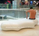Asientos superficiales sólidos y banco del lugar público de Corian