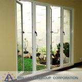 Aluminium eingehängte Tür mit /Casement-Tür des ausgeglichenen Glases