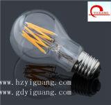 Luz de bulbo del filamento de E27/E40 5W A60 LED para la decoración