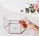 De acryl Organische Doos van de Vertoning van de Juwelen van het Glas (btr-Y3025)