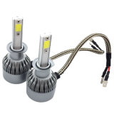 C6 lampadina del kit LED di conversione del faro dell'indicatore luminoso H1 7600lm 72W LED dell'automobile della PANNOCCHIA LED con la lampada capa di 6000k LED