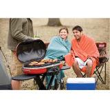 Kampierender im Freien wandernder Picknick-Familien-populärer Schlafsack