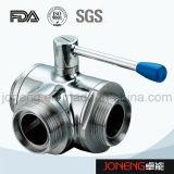 Vávula de bola embridada higiénica de la No-Retención del acero inoxidable (JN-BLV2006)