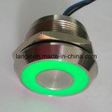 25mm Piezo Swith met de Grote Waterdichte Verlichting van de Ring IP68