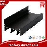 Profil anodisé noir d'aluminium/en aluminium pour le guichet/portes