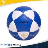 Шарик футбола PVC оптовой голубой улицы размера 5 цвета официальной синтетический кожаный