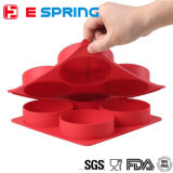Pressa 4 dell'hamburger del silicone del creatore del tortino dell'hamburger in 1 facile eccellente del creatore dell'hamburger