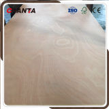 base de la madera dura de la base del álamo de 18m m madera contrachapada de Okoume de la prensa del calor de 2 veces para los muebles