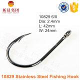 Hameçon 10829 de couleur d'acier inoxydable ultra de poisson-chat argenté de point