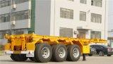 40FT Behälter-Flachbett-halb Schlussteil mit 3 Wellen Tractor-Trailer