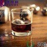 Bille de glace en pierre de refroidissement de whiskey réutilisable de bille de refroidisseur d'acier inoxydable de la forme 304 de bille
