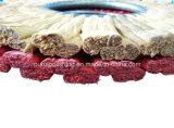 Roda de lustro do sisal duro médio vermelho do dedo para o aço inoxidável