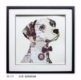 PS Framed Handmade Dog Oil Painting Picture Frame