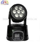 1つの専門の小型LED移動ヘッドライトLED洗浄に付き10W*7PCS RGBW 4つ