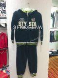 Sweat à capuche en molleton + pantalons longs en vêtements pour enfants Sq-6654