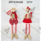 """мышь 17 """" h стоящая с Санта Suit-2asst. - Украшение рождества"""