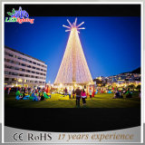 Décoration Décoration Lumière 5m Outdoor Lighted LED Metal Christmas Tree