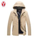 남자의 Hoody에 의하여 세탁되는 면 이완 간단한 재킷