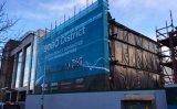 عامة ضخمة بناية لفاف شاشة بناء سقالة شبكة راية