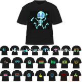 T-shirts d'éclairage LED d'EL
