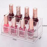 De modieuze Transparante AcrylVertoning van het Nagellak van de Lippenstift