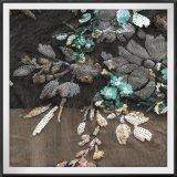 Ricamo di Tulle del ricamo dei Sequins della maglia con il ricamo floreale dei Sequins dei Sequins