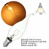 Da vela branca morna retro da lâmpada de Filiment dos bulbos do vintage de E14 AC220V Edison ampolas