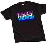 T-shirts de clignotement électriques faits sur commande de DEL