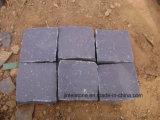 옥외 포장 기계 차도를 위한 입방체 돌을 포장하는 까만 현무암 연석