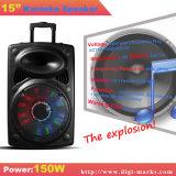 Casella dell'altoparlante del DJ della batteria ricaricabile con i microfoni della radio di USB/SD Bluetooth