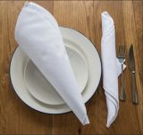 Guardanapo 100% branco do restaurante do algodão de DPF
