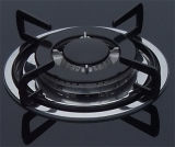 Gas Hob con Five Burners e Tempered Black Glass Panel, Enamel Pan Support (GH-G905E)