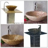 검정 또는 White/Yellow/Grey Natural Stone Granite Marble Sink