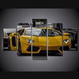 HD druckte gelbes Sportwagen-Abbildung-Farbanstrich-Wand-Kunst-Segeltuch-Druck-Raum-Dekor-Druck-Plakat-Abbildung-Segeltuch Mc-123