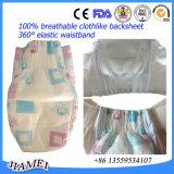Los pañales respirables del bebé de la alta calidad con el escape abofetean el abastecimiento de la fábrica