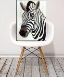 Handgemaltes Zebra-Ölgemälde auf Segeltuch für dekorative Wand-Künste