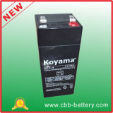 bateria acidificada ao chumbo do AGM de 4V 4ah para a lanterna elétrica, carro do brinquedo
