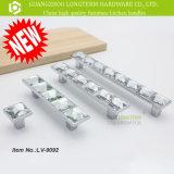 Роскошные высокие ясные большие стеклянные кристаллический тяги ручек ящика кухни